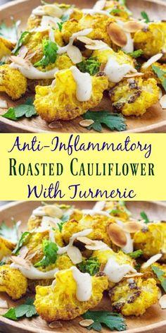 Anti-Inflammatory Roasted Cauliflower With Turmeric #glutenfree #cauliflower #healingrecipes