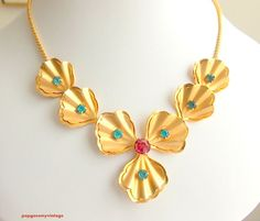 Vintage Bugbee & Niles Necklace and Earrings BN rhinestone demi set