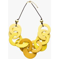 John Lewis Chunky Wood Hoop Necklace (£28) ❤ liked on Polyvore featuring jewelry, necklaces, chain necklace, adjustable chain necklace, cord necklace, chunky chain necklace and chunky statement necklace