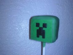 minecraft creeper cake pop - idea for clark's birthday party