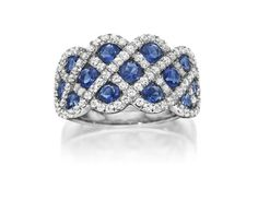 Sapphire and Diamond ring designed by Fana