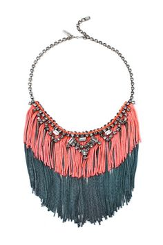 Via @refinery29. Gorgeous contrast between the fringe and stones here. Joomi Lim, $432 @ Otte.