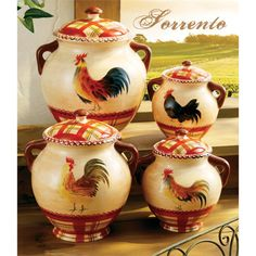 Rooster Kitchen Decor Cannister