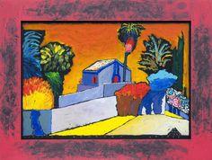 Boris Jirků - Zahrada - Galerijní ulice - Ostrava - Moravskoslezský kraj Ulice, Painting, Art, Painting Art, Paintings, Kunst, Paint, Draw, Art Education