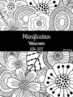 La classe de Madame Valérie: Planificateur noir et blanc 2016-2017