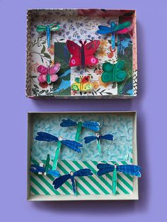 These bug collection boxes are one of the projects from the book Drawing Workshop for Kids. Drawing Activities, Craft Activities, Craft Books, Book Crafts, Creative Play, Creative Crafts, Book Drawing, Building For Kids, Drawing Projects