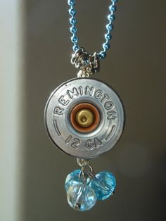 Remington 12 Gage Shotgun Shell Necklace by UniquelyYoursStudio, $25.00 Bullet Shell Jewelry, Shotgun Shell Jewelry, Bullet Casing Jewelry, Ammo Jewelry, Jewelry Crafts, Beaded Jewelry, Jewlery, Handmade Jewelry, Shotgun Shell Crafts