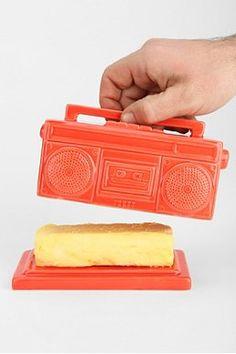Boombox Butter Dish. #music #boombox #butter http://www.pinterest.com/TheHitman14/music-paraphernalia/