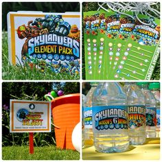 Skylanders Birthday Party Ideas. Passport, Games, Cute Party Favors, Invitations.