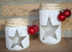 Glazen potje versieren Jar Crafts, Bottle Crafts, Diy And Crafts, Crafts For Kids, Christmas Jars, Christmas Time, Christmas Crafts, Christmas Decorations, Mason Jar Projects