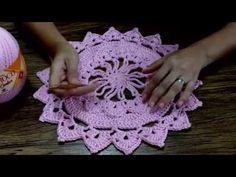 Sousplat de Crochê Barroco 4 - Professora Simone - YouTube