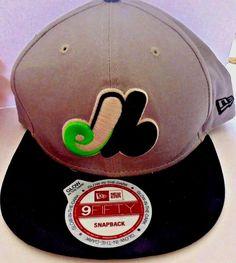 Montreal Expos New Era Hat Cap 9 Fifty Snap Back Glow in the Dark baseball MLB #NewEra #MontrealExpos