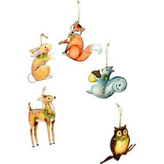 Round Top Collection Woodland Animal Ornament