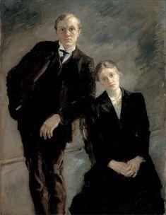 Max Beckmann · Autoritratto con Minna Beckmann · 1909 · Ubicazione ignota
