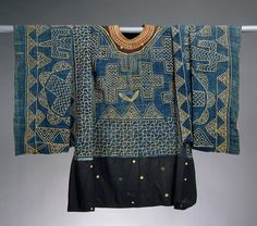 Prestige Gown, Cameroon, Grassfield region, cotton and wool, 19-20th century