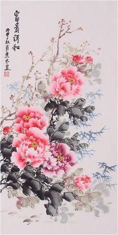 Osaka Japan Fashion - - Japan Itinerary With Kids - Osaka Japan Street Chinese Painting Flowers, Chinese Flowers, Japan Painting, Silk Painting, Painting Walls, Oriental, Online Painting, Chinese Art, Japanese Art