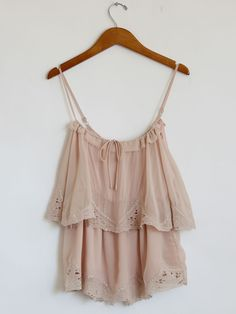 Pink Lace Trim Layered Top