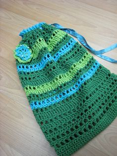 Work Your Way Up String Bag: free crochet pattern