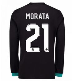 Billiga Real Madrid Alvaro Morata 21 Bortatröja 17-18 Långärmad