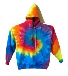 Tie Dye Hoodie Sweatshirt  Rainbow Spiral by RainbowEffectsTieDye
