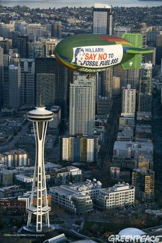 Space Needle Airship Message