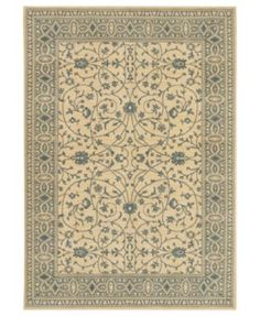 "Karastan Area Rug, English Manor Somerset Lane-Ivory/Blue 5' 7"" x 7' 11"" 