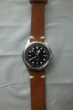 TK: Seiko SNK809 (Black Bay 36 mod) VERKOCHT MAG DICHT - Horlogemarkt.nl - Verkocht - Horlogeforum.nl - het forum voor liefhebbers van horloges Retro Watches, Cheap Watches, Vintage Watches, Seiko Snk809, Seiko Mod, Field Watches, Automatic Watch, Omega, Rolex