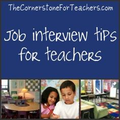 What to answer (and ask) during interviews for teaching positions. May come in handy one day.