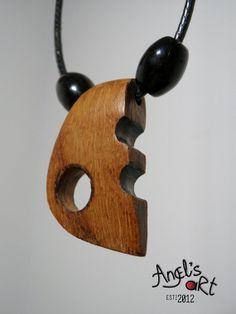 Wooden modern pendant no 1 minimalistic by AngelsArtOriginal, $16.00