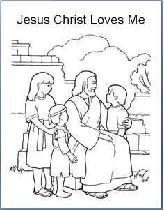 emmas place jesus christ loves each of us primary 3 lesson 30 coloring page ms