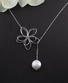 Sterling Silver Jewelry  Garden Moon Flower  by MenuetDesigns, $28.50 kms0817