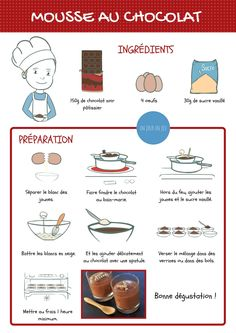 Jeux De Cuisine Facile Trick in 2020 Fun Cooking, Cooking With Kids, Cooking Recipes, Kids Meals, Easy Meals, French Patisserie, French Food, Learn French, French Language