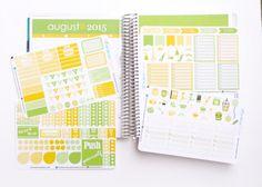 August Planner Kit 150 diecut stickers / August by KarolinasKrafts