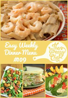 This week's menu of easy dinners is all about seafood recipes!