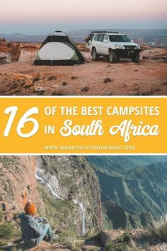 16 Of The Best Campsites In South Africa South Africa is home to some incredible campsites. You can spend a weekend camping in Kruger National Park, surrounded by the imposing Drakensberg mountains or along the pristine West Coast. Africa Destinations, Travel Destinations, Travel Tips, Holiday Destinations, Budget Travel, Travel Guides, Travel Photographie, Camping Places, Camping Tips