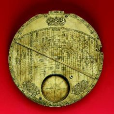 ISLAMIC MECCA-CENTRED WORLD MAP--A rare and important 17th-century Safavid brass world map from Isfahan