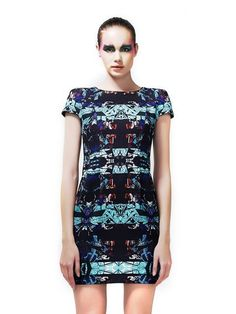 The Studded Print Dress  by Greedilous. Available at www.portemode.com.
