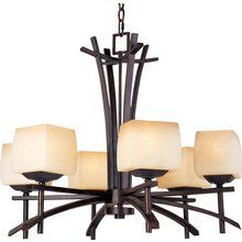 View the Maxim MX 10985 6 Light Up Lighting Chandelier from the Asiana Collection at LightingDirect.com.