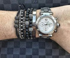 Cartier Watch Paired with Bracelets