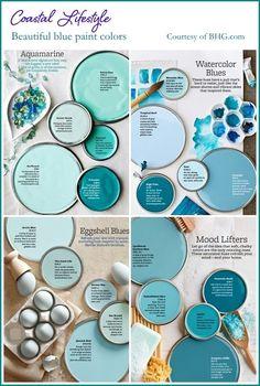 Interior Paint Colors, Paint Colors For Home, Interior Design, Decoration Palette, Popular Paint Colors, New Blue, Beach Cottages, Beach Houses, Beach House Decor
