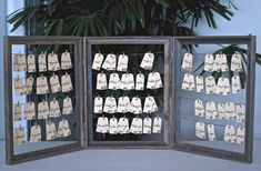 Rustic Vintage Wedding Escort Card Holder - Table Number Names Table Top Display…