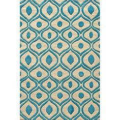 Shop for Modern Waves Blue Hand-Tufted Rug (8' x 10'). Get free shipping at Overstock.com - Your Online Home Decor Outlet Store! Get 5% in rewards with Club O!