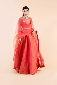 Women fashion For Work Career - - - Pakistani Fashion Casual, Indian Fashion, Indian Attire, Indian Outfits, Indian Designer Outfits, Designer Dresses, Simple Lehenga, Plain Lehenga, Indian Lehenga