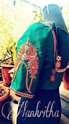 Blouse sleeve embroidery....