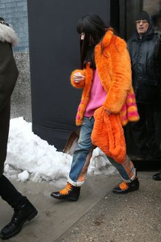 Garment 6:  Color trend of the moment.  Orange is the new black as they said in 2013, but it continues for 2014...lovely!