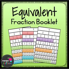 This little booklet is a great visual way for students to identify equivalent fractions. Students use fraction bars and number lines to show which fractions are equivalent.If you enjoy this freebie, please leave feedback.