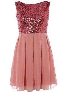 $41.99 Vestido de lentejuelas rosa de TFNC