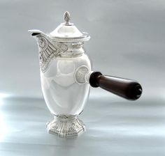 Henin: Antique French Sterling Silver Chocolate Pot - Empire style