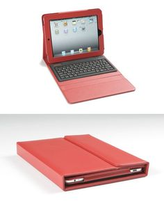iPad Case with Built-in Keyboard. Comes with a built-in Bluetooth 2.0 silicone keyboard and transforms your iPad into an instant mini laptop. The built-in lithium ion battery lasts for 90 hours and it doesn't need an iPad Dock to work.