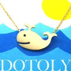 Happy Whale Necklace Gold. Starting at $1 on Tophatter.com!